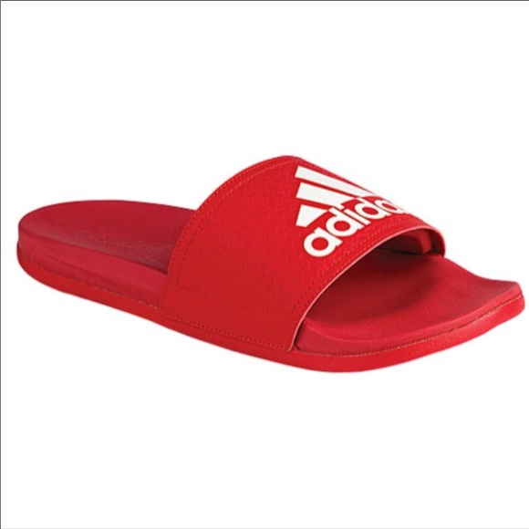 dba72249d Red Adidas super cloud foam slides